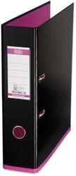 Elba ordner MyColour ft A4, rug van 8 cm, zwart/roze
