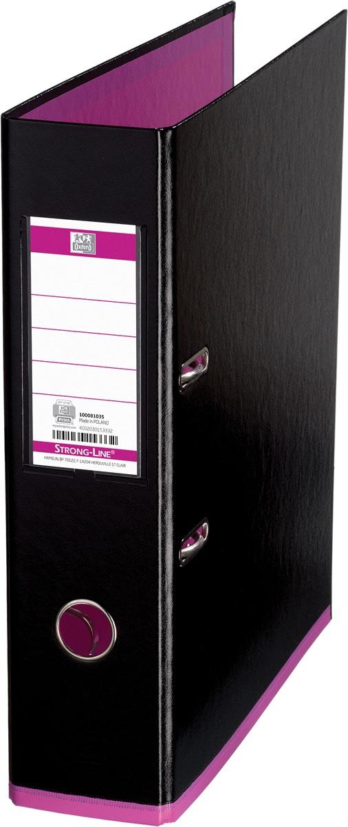 OXFORD MyColour ordner, formaat A4, uit karton, rug van 8 cm, zwart-roze