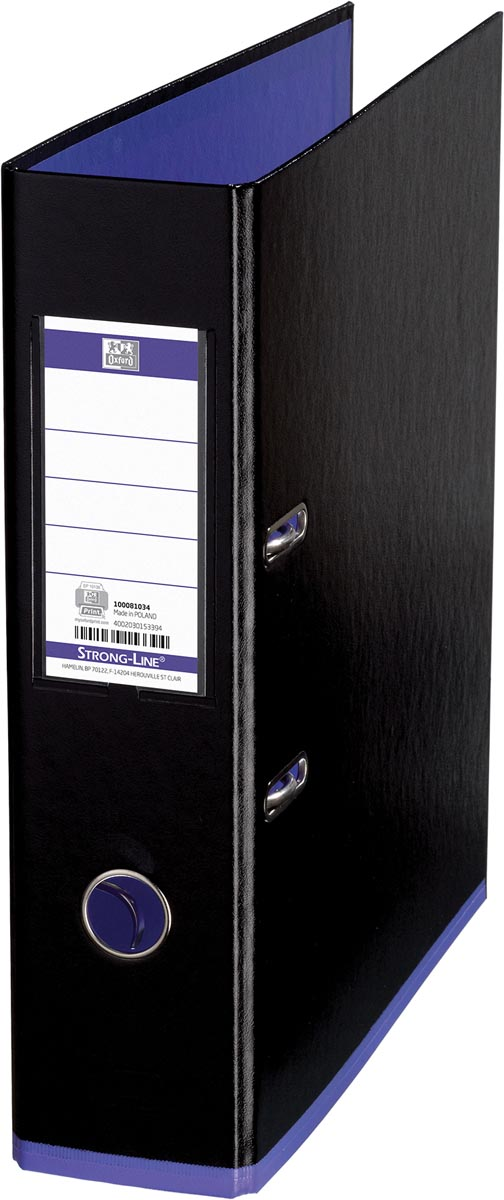 OXFORD MyColour ordner, formaat A4, uit karton, rug van 8 cm, zwart-paars