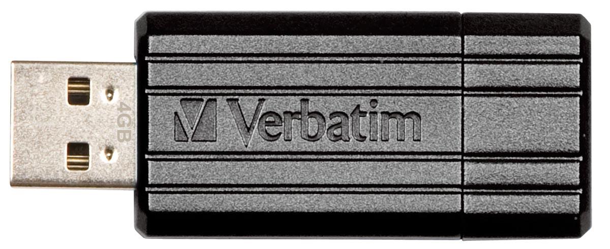 Verbatim PinStripe USB 2.0 stick, 16 GB, zwart