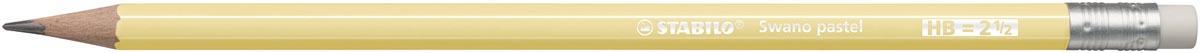 STABILO Swano pastel potlood, HB, met gom, geel