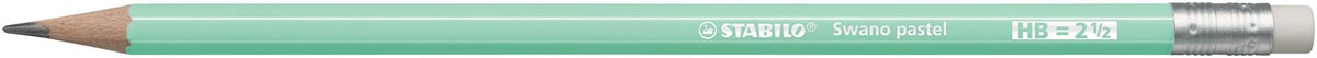 STABILO Swano pastel potlood, HB, met gom, groen