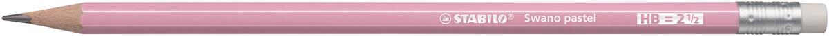 STABILO Swano pastel potlood, HB, met gom, roze