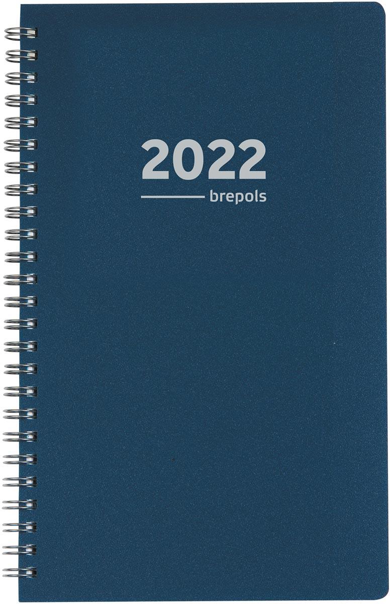 Brepols agenda Building Polyprop 6-talig, blauw, 2022