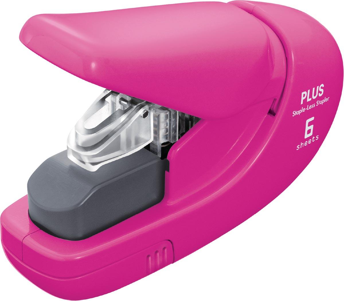 Plus nietloze nietmachine, roze