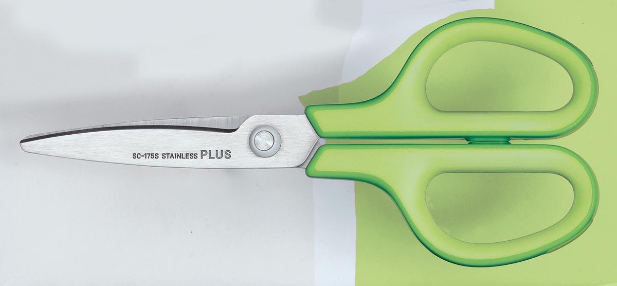 Plus FitCut Curve SMART schaar, 17,5 cm, groen, op blister