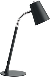 Unilux LED bureaulamp Flexio 2.0, zwart