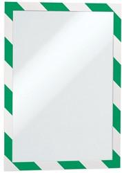 Durable Duraframe Security, ft A4, groen/wit, pak van 2