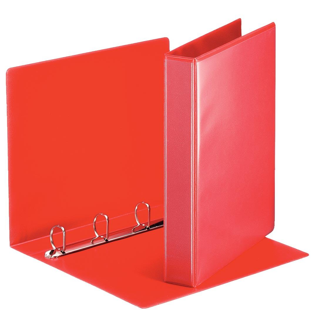 Esselte personaliseerbare ringmap, rug van 5,1 cm, 4 D-ringen van 30 mm, rood