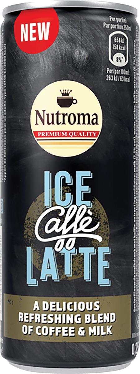 Nutroma Ice Caffè Latte, blik van 25 cl, pak 12 stuks