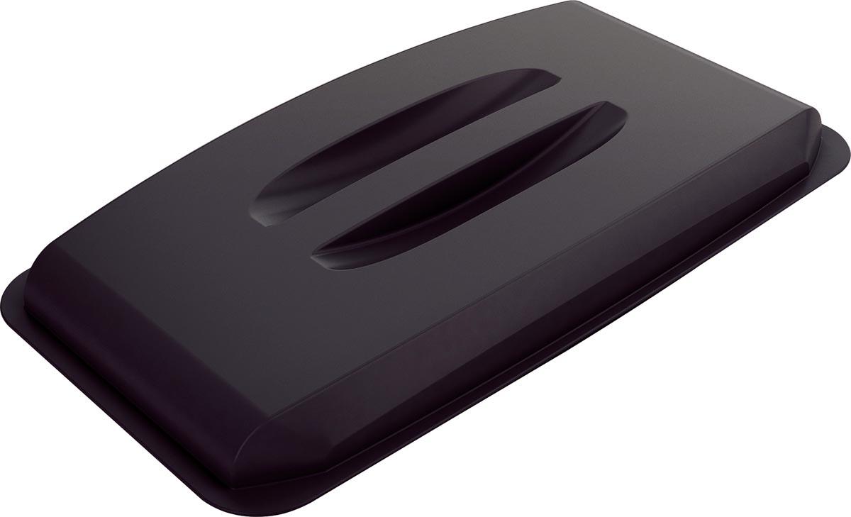 Durable deksel Durabin 60 liter, zwart