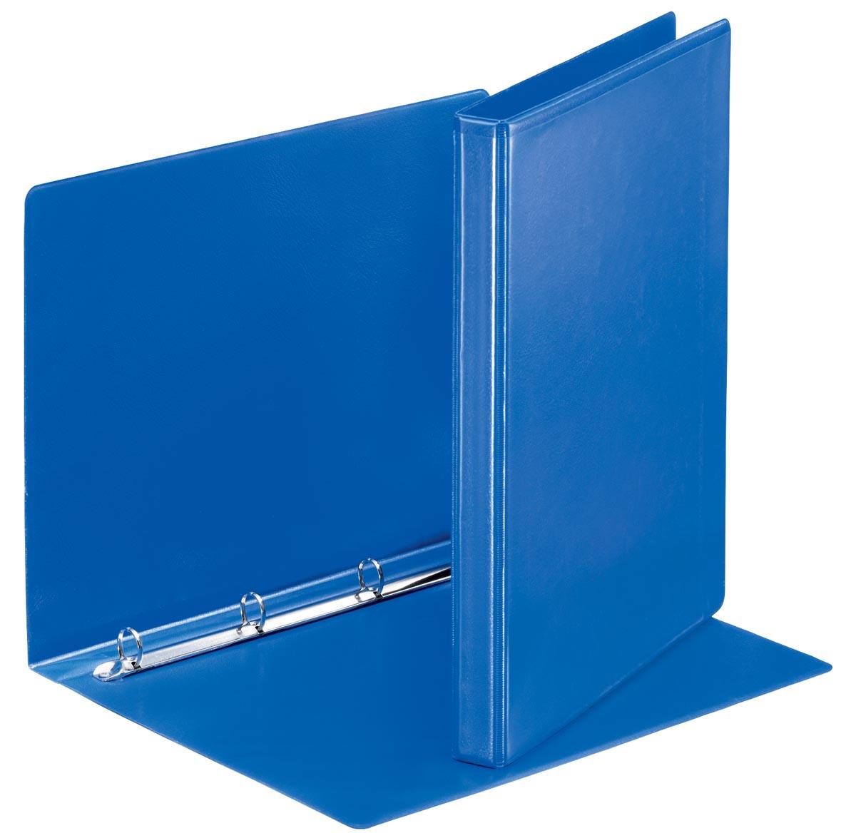 Esselte personaliseerbare ringmap, rug van 3 cm, 4 O-ringen van 16 mm, blauw