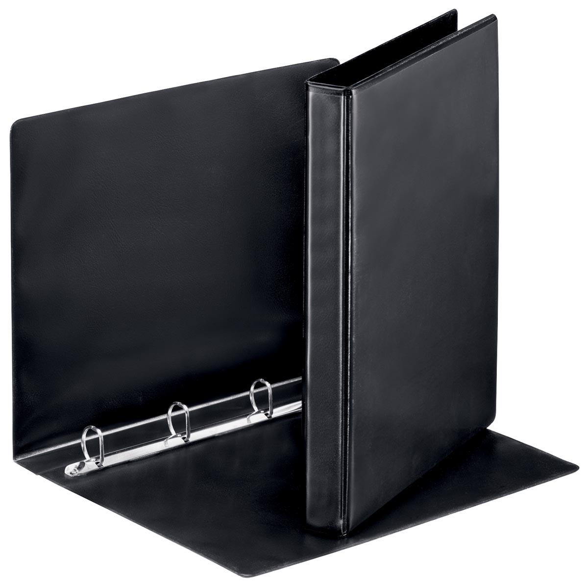 Esselte personaliseerbare ringmap, rug van 3,8 cm, 4 D-ringen van 20 mm, zwart
