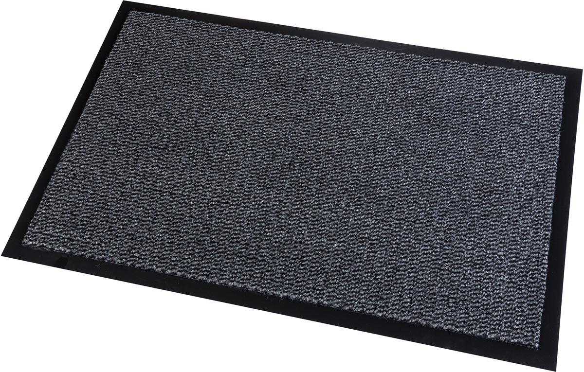 Vloermat voor tapijt, ft 90 x 150 cm, grijs, pak van 4 stuks