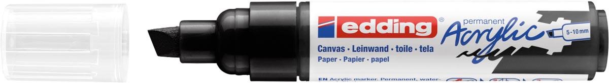 Edding Acrylic marker breed zwart