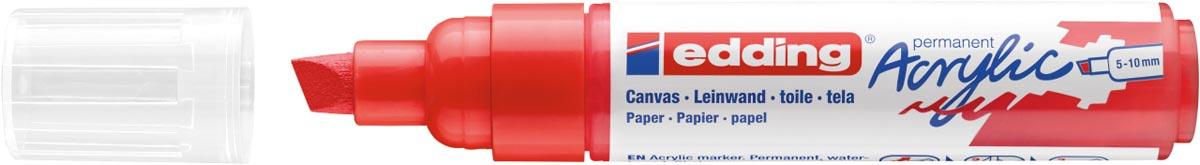 Edding Acrylic marker breed verkeersrood
