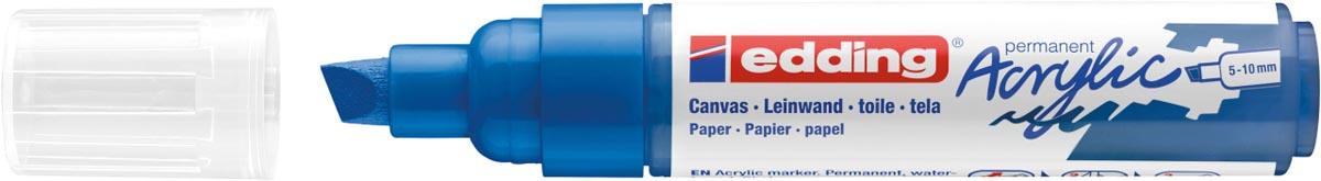Edding Acrylic marker breed gentiaanblauw