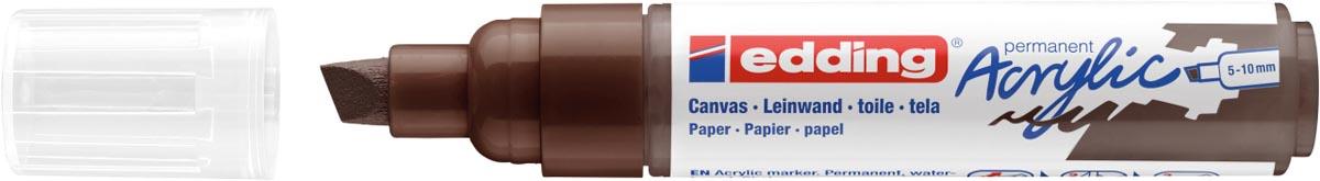Edding Acrylic marker breed chocoladebruin