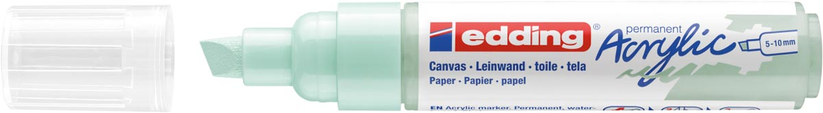 Edding Acrylic marker breed zacht mint