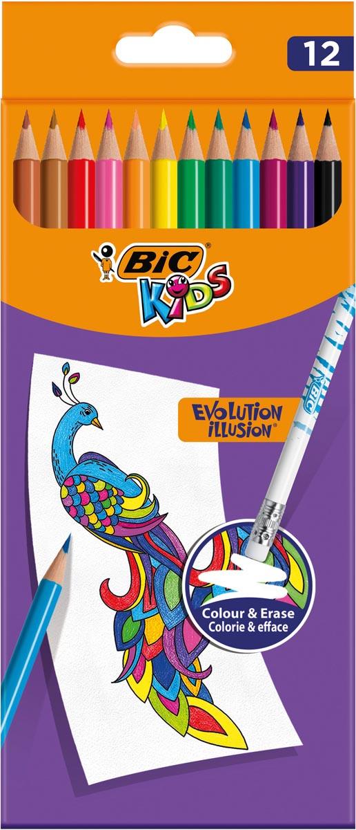 Bic Kids Evolution Illusion, clipstrip met 12 stuks