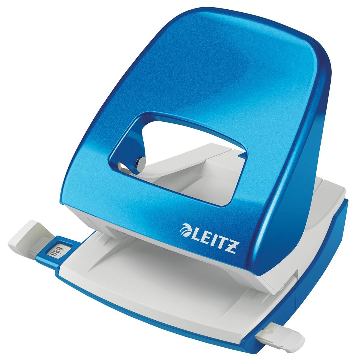 Leitz WOW perforator, 30 blad, blauw, op blister