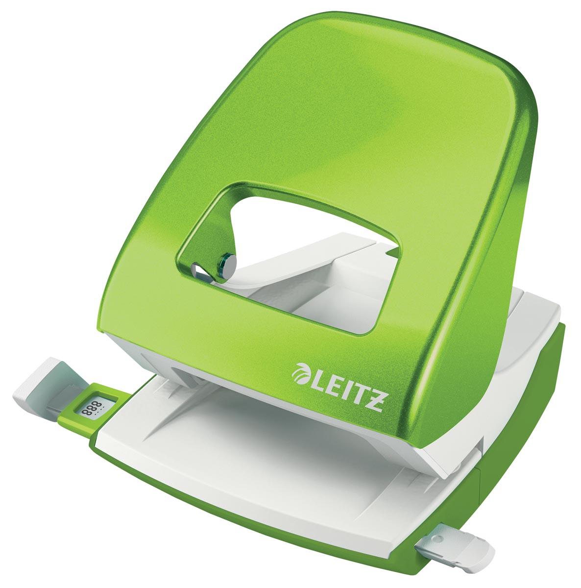 Leitz WOW perforator, 30 blad, groen, op blister