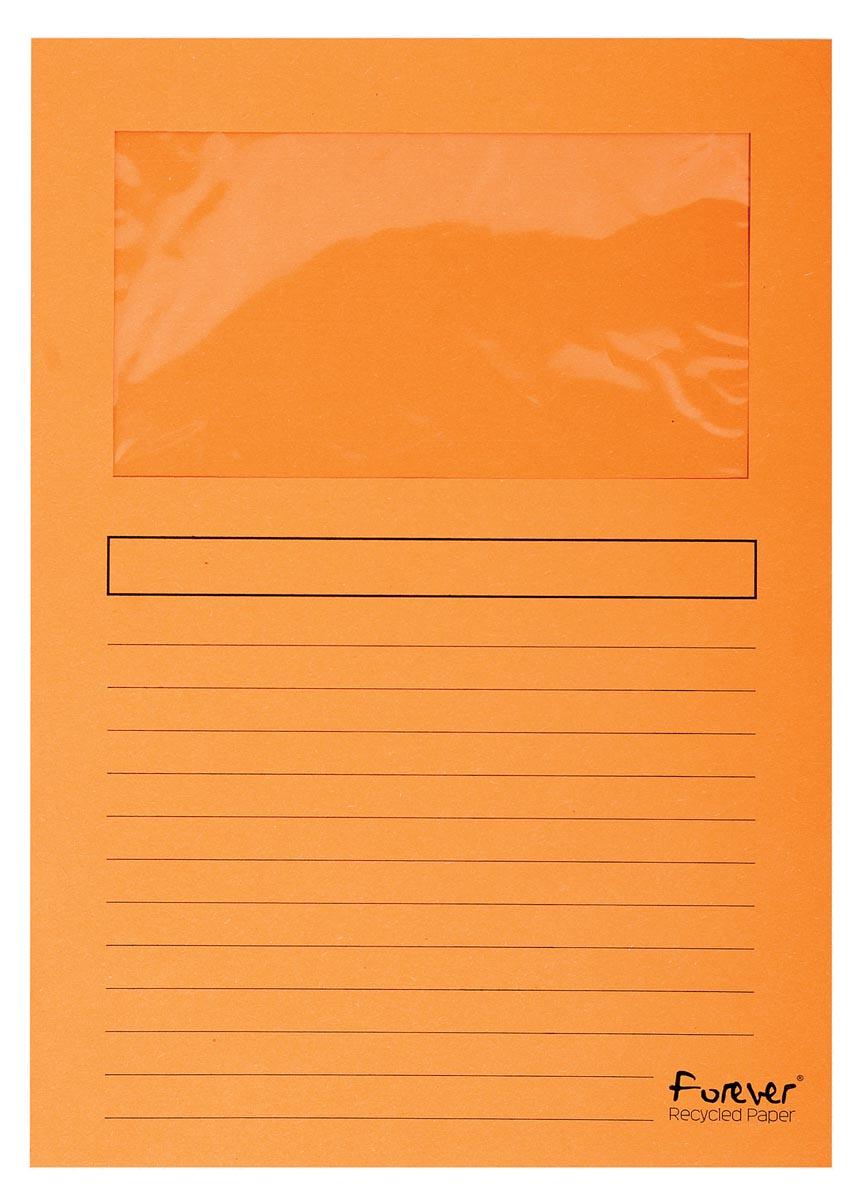 Exacompta L-map met venster Forever, pak van 100 stuks, oranje