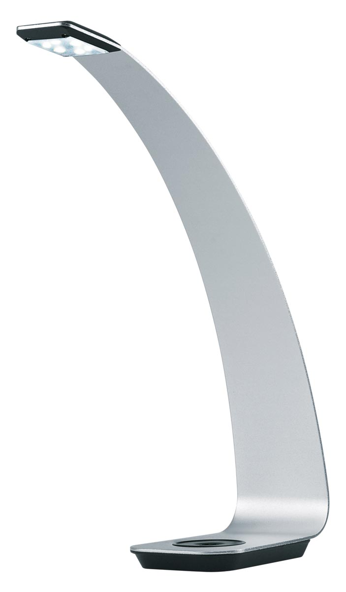 Hansa bureaulamp Scala, LED-lamp, zilver