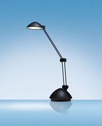 Hansa bureaulamp Space, LED-lamp, zwart