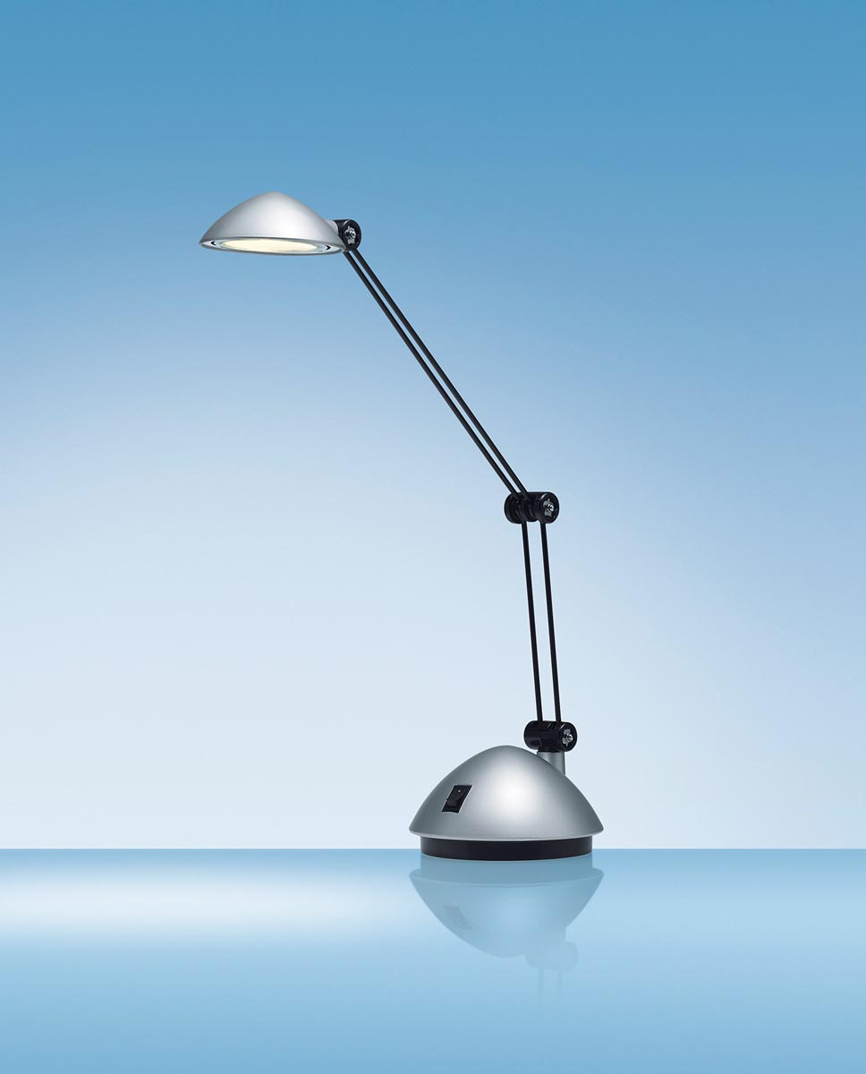 Hansa bureaulamp Space, LED-lamp, zilver