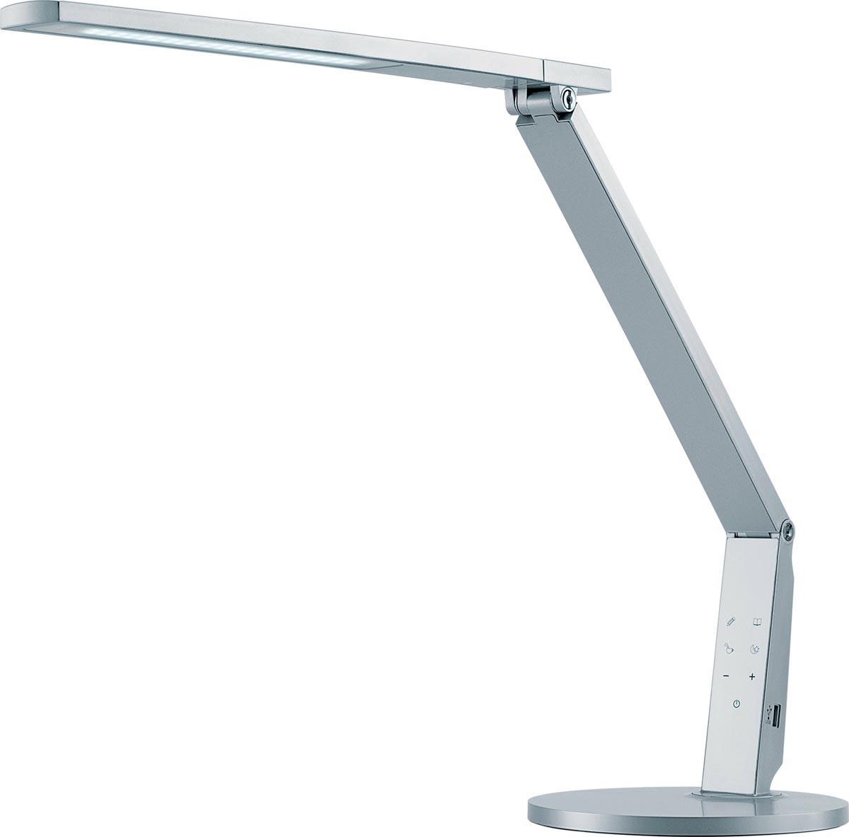 Hansa bureaulamp Vario Plus, LED-lamp, zilver