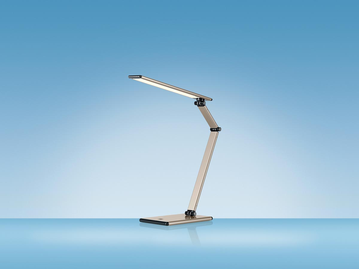Hansa bureaulamp slim led lamp goud bij vindiq office