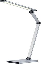 Hansa bureaulamp Slim, LED-lamp, zilver