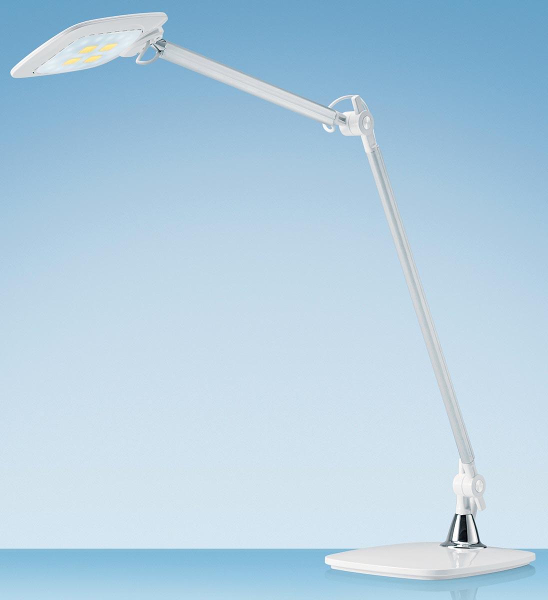 Hansa bureaulamp E-Motion, LED-lamp, wit