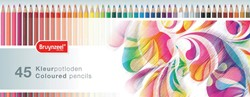 Bruynzeel kleurpotloden 'Kleurrijk', doos met 45 potloden in geassorteerde kleuren