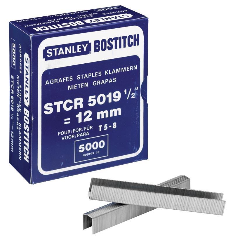 Bostitch Nietjes STCR501912E (12 mm), voor PC8000, doos van 5.000 nietjes