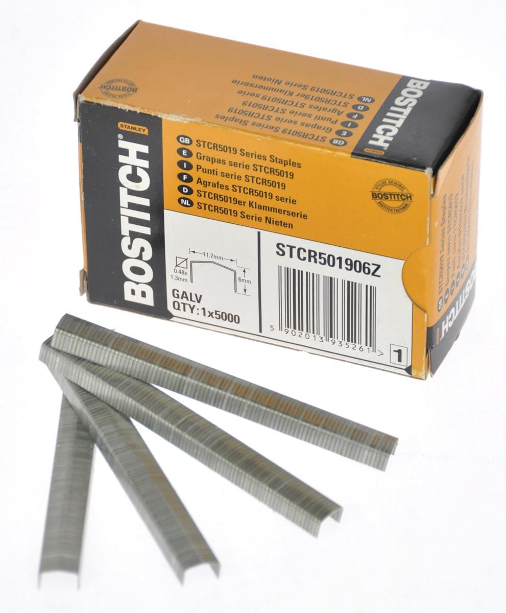 Bostitch nietjes STCR5019, 6 mm, doos van 5.000 nietjes