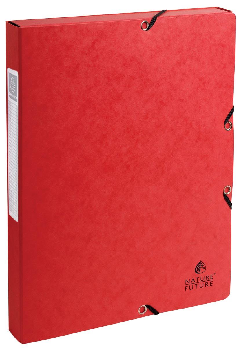 Exacompta elastobox Exabox rood, rug van 2,5 cm
