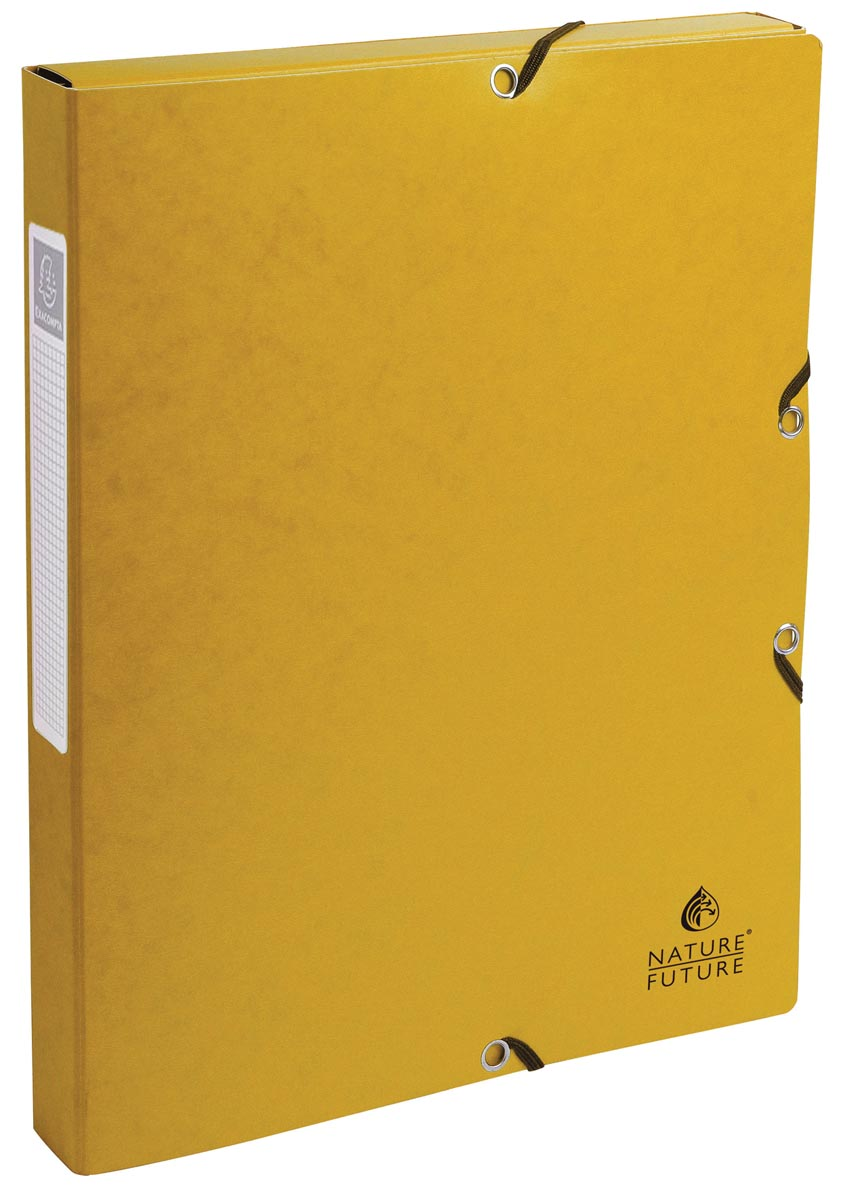 Exacompta elastobox Exabox geel, rug van 2,5 cm