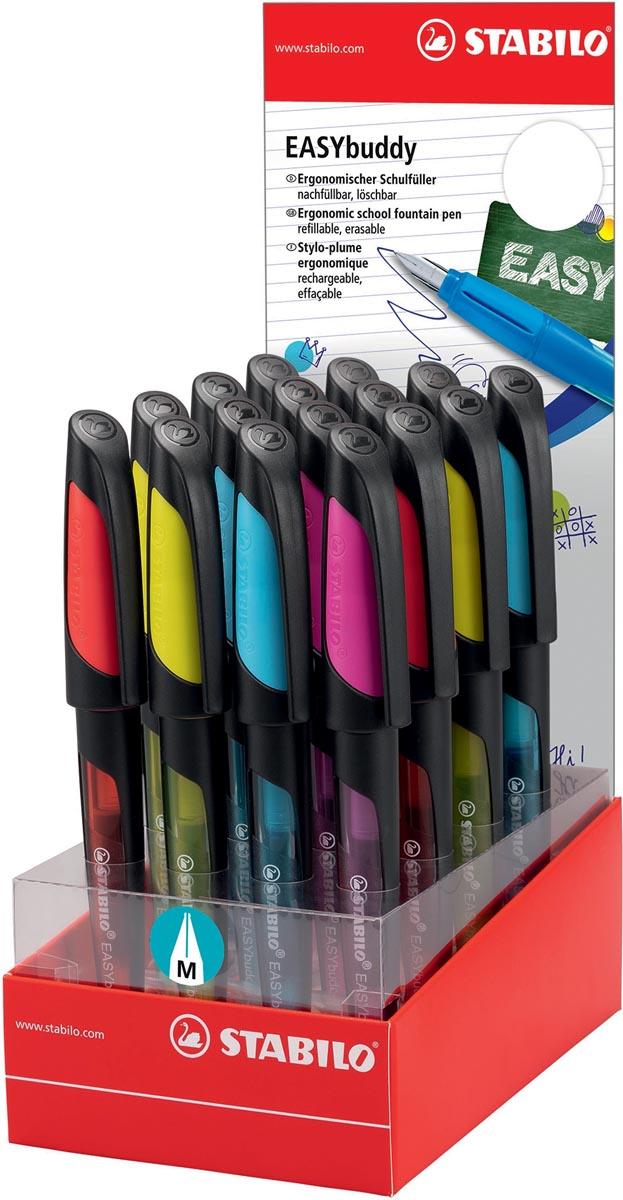 STABILO EASYbuddy vulpen, display van 16 stuks zwart-kleur