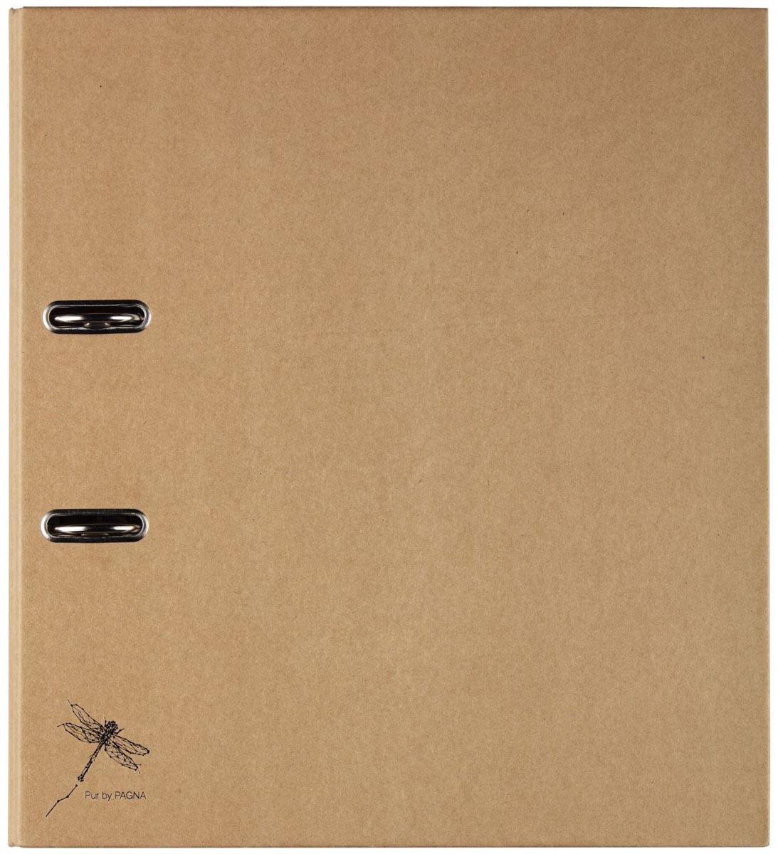 Pagna ordner Pur voor ft A4, rug van 7,5 cm, bruin