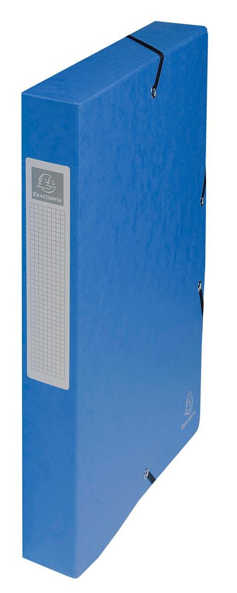 Exacompta elastobox Exabox blauw, rug van 4 cm