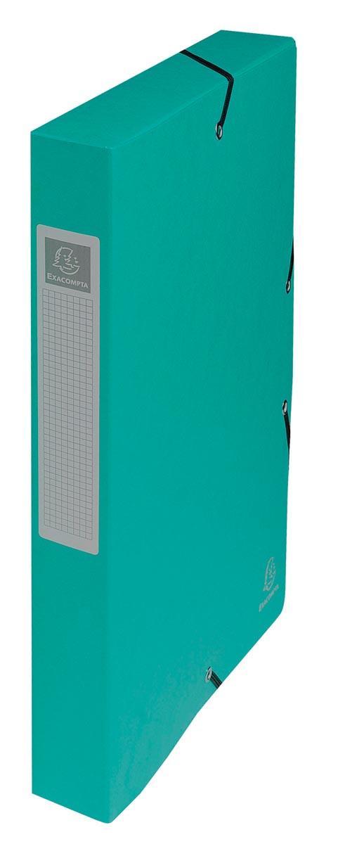 Exacompta elastobox Exabox groen, rug van 4 cm