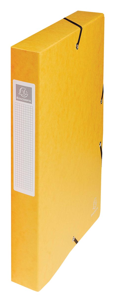 Exacompta elastobox Exabox geel, rug van 4 cm