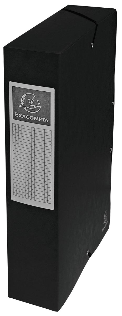 Exacompta elastobox Exabox zwart, rug van 6 cm