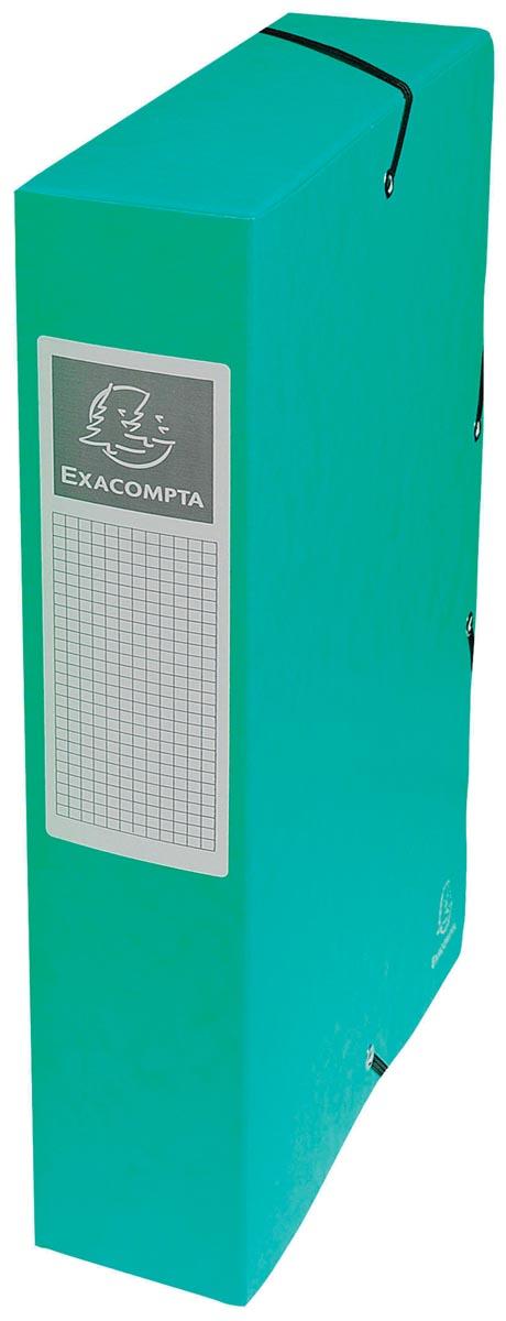 Exacompta elastobox Exabox groen, rug van 6 cm