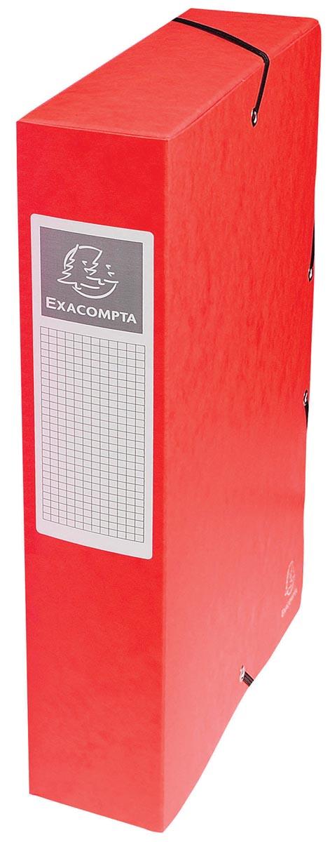 Exacompta elastobox Exabox rood, rug van 6 cm