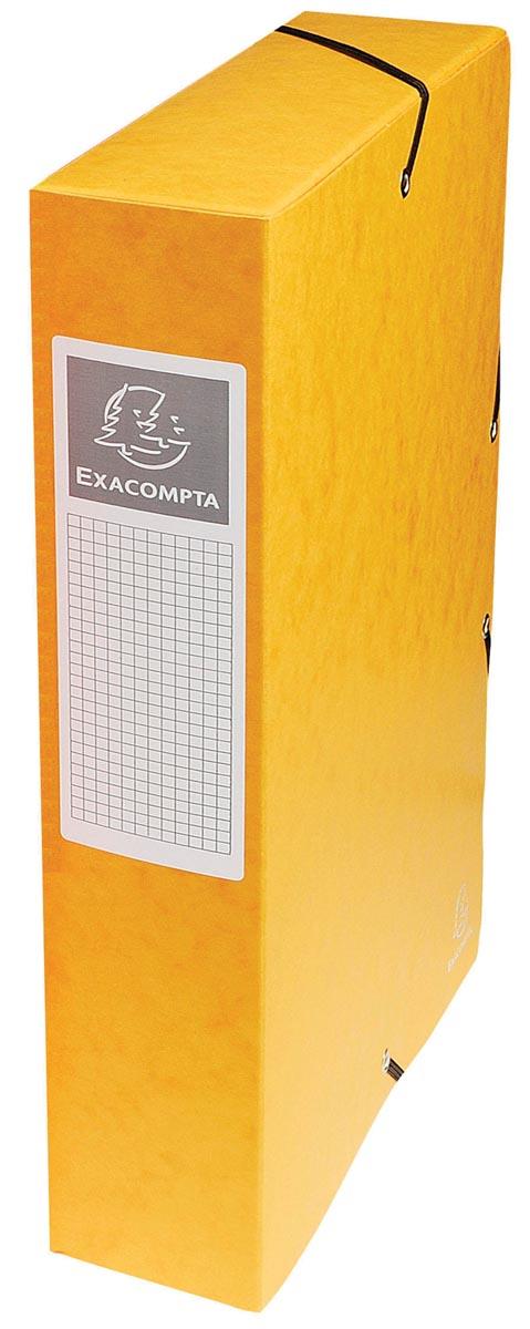 Exacompta elastobox Exabox geel, rug van 6 cm