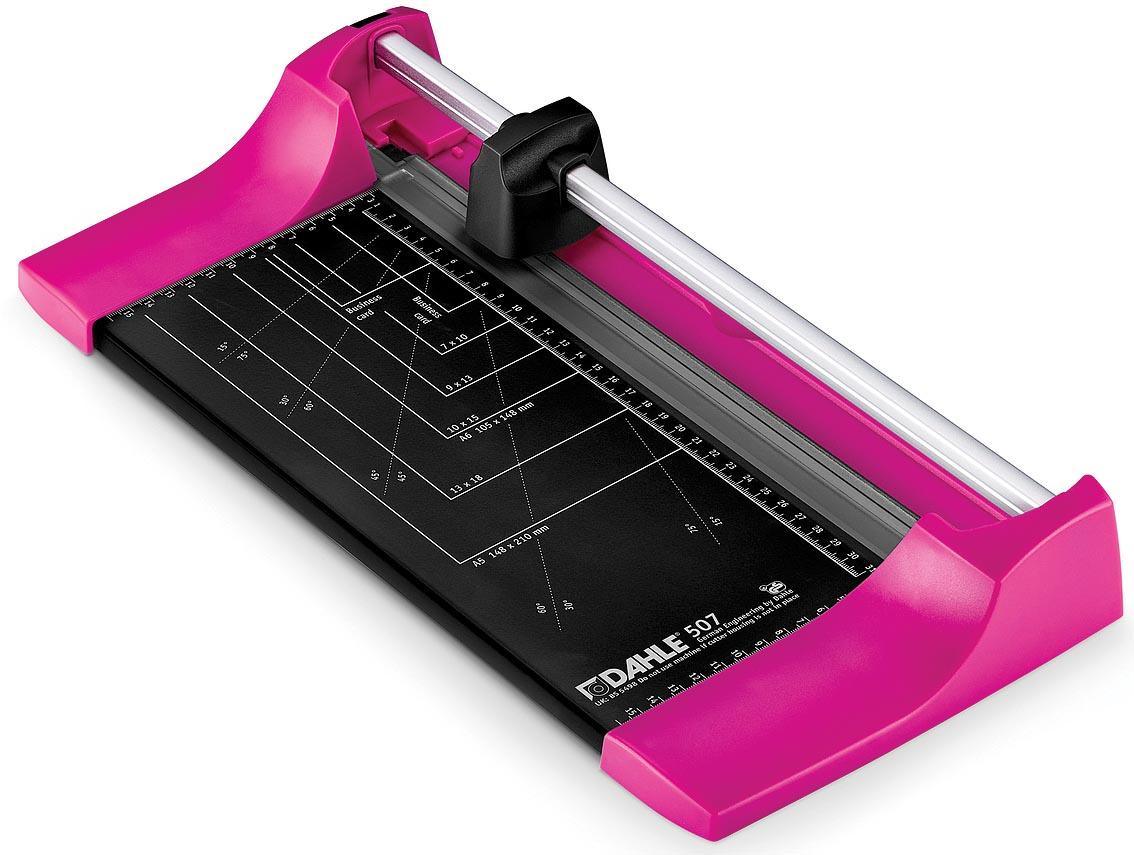 Dahle rolsnijmachine 507 voor ft A4, capaciteit: 8 vel, roze