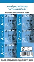BPost postzegel tarief 1 Europa, Koning Filip, blister van 50 stuks